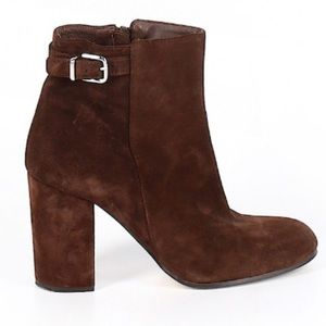 J Crew Brown Suede Ankle Boots Size 9.5